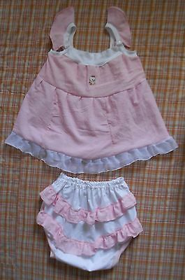 Adult  Baby  Sissy   Sundress   Set  Abdl Fancy Set Pink And White