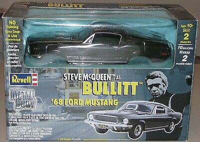 """THE """"BULLITT"""" CARS:  '68 FORD MUSTANG and '68 DODGE CHARGER; Both NIB"""