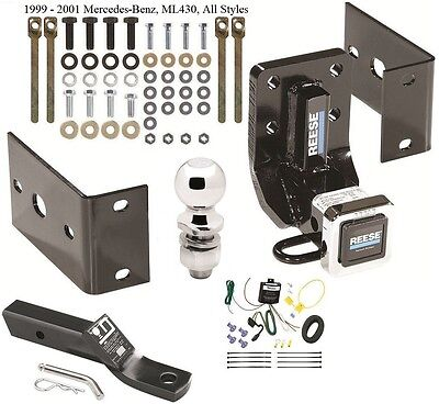 complete trailer hitch package w/ wiring kit fits 1999-2001 mercedes-benz  ml430