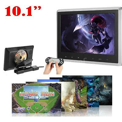 "10.1"" Digital TFT LCD Wide Screen Touch Monitor Headrest Car DVD Player USB C7Z9"