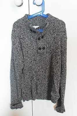 PUMPKIN PATCH boys size 12 grey jumper EUC