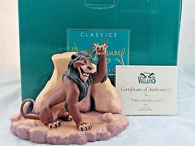 """WDCC """"Life's Not Fair, Is It"""" Scar from Disney's The Lion King in Box with COA"""