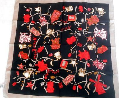 Fabulous Vintage Pure Silk Scarf Square Moulin Rouge Made Italy