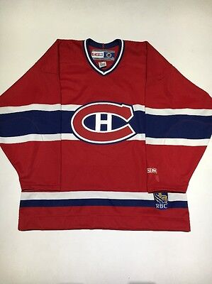 Vintage Montreal Canadiens Thompson #1 NHL CCM Hockey Jersey Adult Size Large