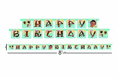Baby Moana happy birthday party decoration supplies banner