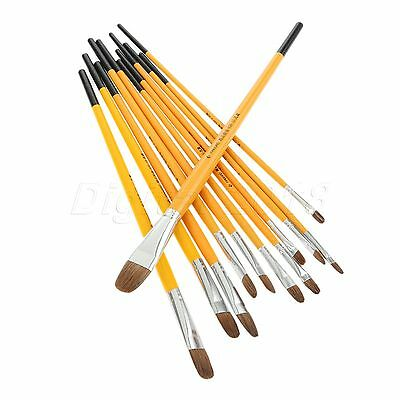 Beginners Artist Round Brush For Painting Gouache Watercolor Art Accessory Tools