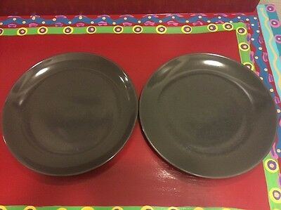 """Russel Wright Iroquois Casual China Dinner Plate 9.5"""" Gray"""