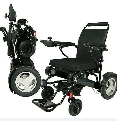 Electric Lightweight Folding Wheelchair 2 x Lithium Batteries Disability Elderly