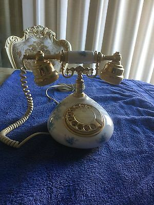 Vintage Royal Albert Bone China telephone TIFFANY 1981