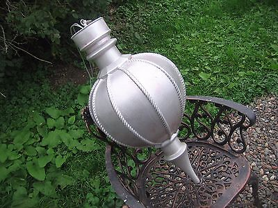"Vintage Ornament blowmold HUGE blow mold hanging 32"" bulb Neat  Christmas silver"