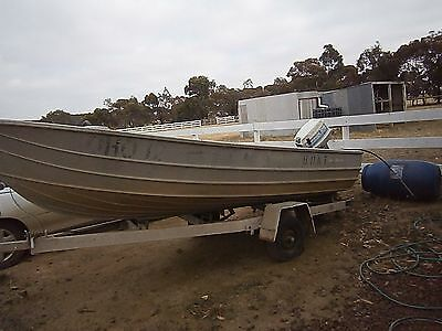 15ft Aluminium Fishing Boat with trailer