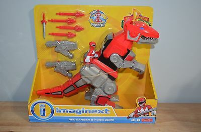 Fisher-Price IMAGINEXT Mighty Morphin Power Rangers RED & T-REX ZORD Figures NEW