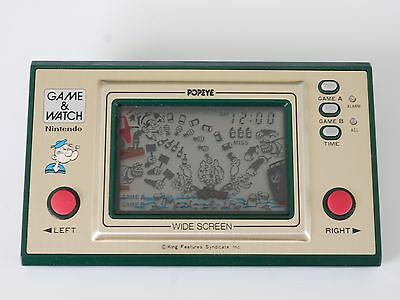 Nintendo Game and Watch Popeye PP-23 with BOX wide screen 1981
