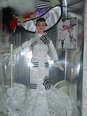"""DOLL COLLECTION MATTEL BARBIE """"MY FAIR LADY""""  vhs included of movie free!"""