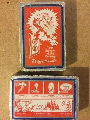 Reddy Kilowatt Two Decks Playing Cards Box Collectible Utility Electric