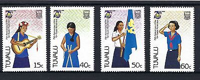 Tuvalu 1985 Girl Guides SG 343-6 MNH POSTED FREE TO THE UK.