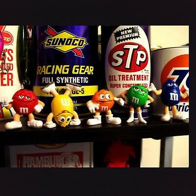 RARE!! M&M′s CANDY Character PVC Mini Figure Collectible Store Display five Set
