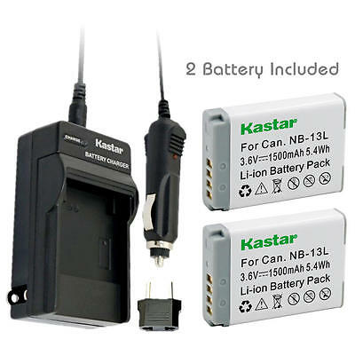 NB-13L Battery and Normal Charger for Canon PowerShot G5 X, G7 X,  G7 X Mark II