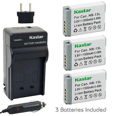 NB-13L Battery and Normal Charger for Canon PowerShot SX620 HS, SX720 HS, G5 X