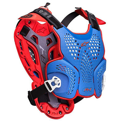 NEW ALPINESTARS RACING Blue Red Adult Body Armour Chest Protector Motocross