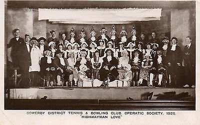 Rp Sowerby District Tennis & Bowling Club. Operatic Society. 1925. Yorkshire.