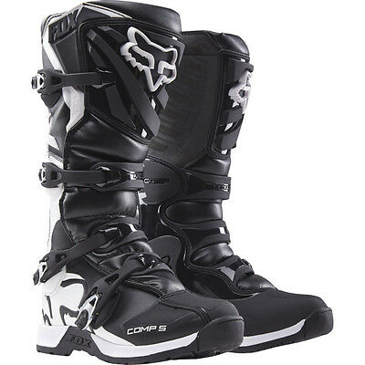 New FOX Racing 2017 Adult Comp 5 Black MX Boots Motocross Dirtbike