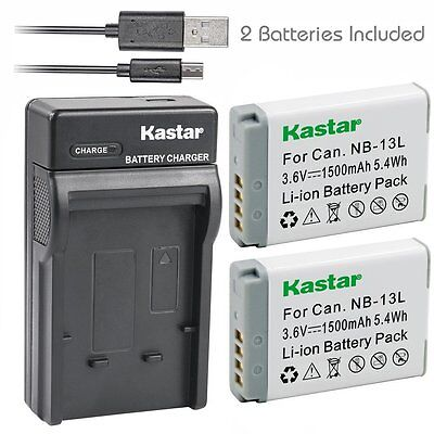 NB-13L Battery & Slim USB Charger for Canon PowerShot SX620 HS, SX720 HS, G7 X