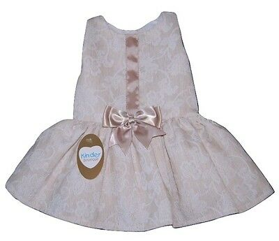 Girls Spanish Romany Style Beige Floral Swirl Dress 3-24 Month 2-3 Years