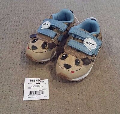 Baby boy toddler Size 3 dog shoes – BNWT New