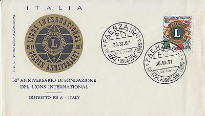 Lions Club Faenza Italy 1967 cover