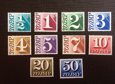 BK9 GB 1976-77 10 Values Mint Never Hinged Postage Due stamps