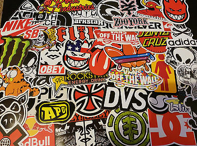Lot de stickers,autocollants marques skate, snowboard,vélo , rider , skateboard