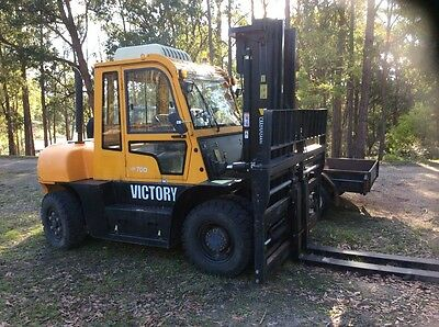 victory VF 70 D  7 Ton Forklift  770 hrs