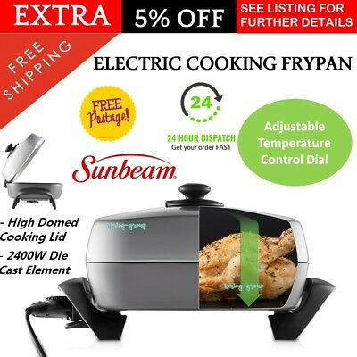 Sunbeam Family Banquet Frypan Electric Fry Pan Frying Fryer Roaster Non Stick