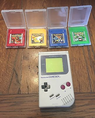 Lot Console Gameboy Fat Et 4 Jeux Pokémon