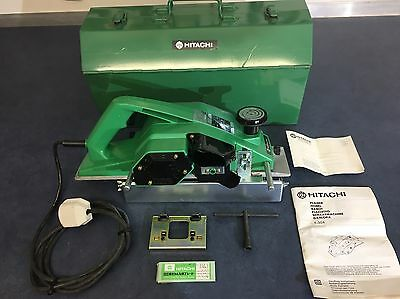 Used Once Hitachi F30A electric planer, Complete in steel case inc spare blades