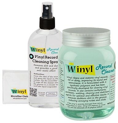 Pack Winyl Gel 500 ml + Spray 150 ml Professional Vinyl Record Cleaner
