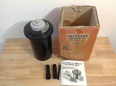 Vintage Paterson Triple 35 Model Ii Developing Tank, Photography, Collectable