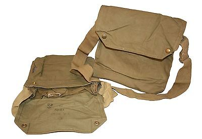Genuine British MKVII Gas Mask Bag, Indiana Jones Top Value 1941-1942 Genuine