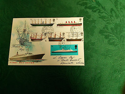 First Day Cover British Ships 1969