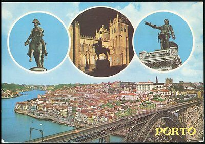 Porto Portugal And The Bridge  Posted 1981Stamp Intact
