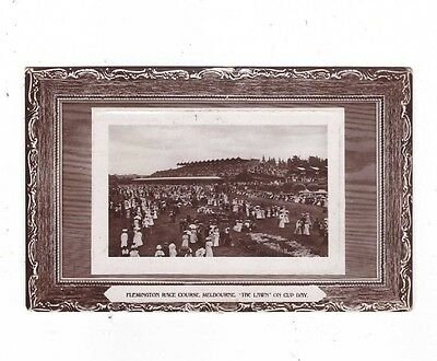 Australia VICTORIA Postcard,HORSE RACING, FLEMINGTON RACE COURSE CUP DAY