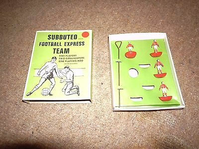 1970s boxed Subbuteo football express team red colours.