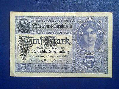 Germany - 5 Mark 1917 -  Very  Fine