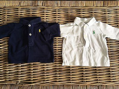 2 boys Baby Rugby Tops Polo shirt size 0-3 Months Ralph Lauren