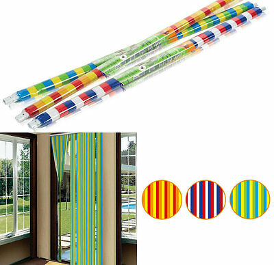 Plastic Door Strip Curtain Fly Insect Striped Blind Screen 90cm x 200cm STV Buzz