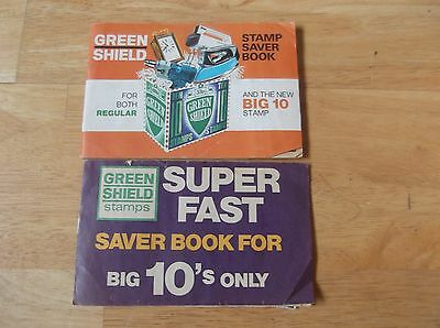 2 full green shield stamps books big ten and single stamps good condition
