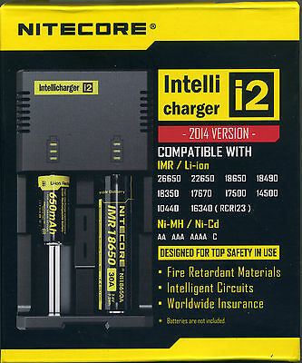 Chargeur De Batterie NITECORE Intellicharger i2 IMR/Li-ion/Ni-MH/Ni-Cd