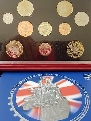 2004 ROYAL MINT DELUXE PROOF SET COINS FOR UK  FULL PACKAGING present collection