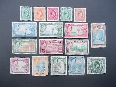 Jamaica,kgvi 1938 To 1952 Lot, Mint Hinged.